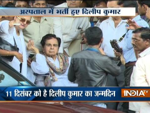 Veteran actor Dilip Kumar hospitalised after swelling in leg, stable