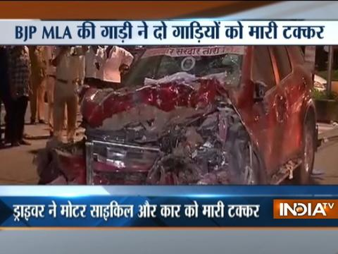 BJP MLA's car crashes into Police Station in Mumbai, 2 injured