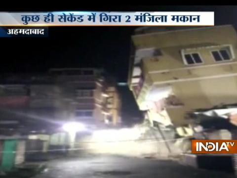 Caught On Camera: Two-storey building collapses in Ahmedabad