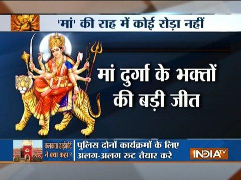 Calcutta HC allows Durga idols' immersion till 12 AM on all days including Muharram