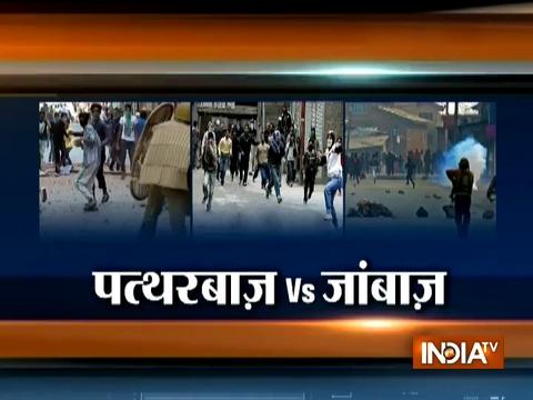 Fresh video shows stone pelting on army's van in Jammu and Kashmir