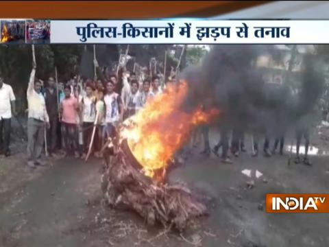 Maharashtra farmers' protest land acquisition in Kalyan and Thane, several vehicles vandalized