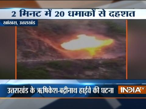 VIDEO: Truck loaded with 10 LPG Gas Cylinders blasts at Uttarakhand highway