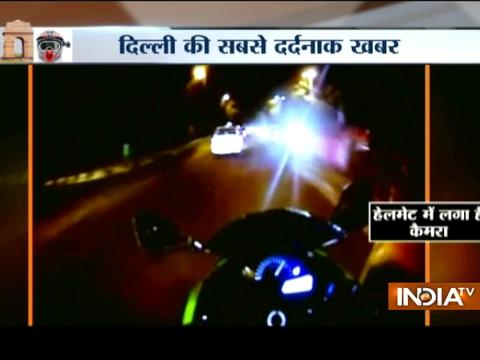 Caught on camera: High-speed race kills 24-year-old super biker in central Delhi