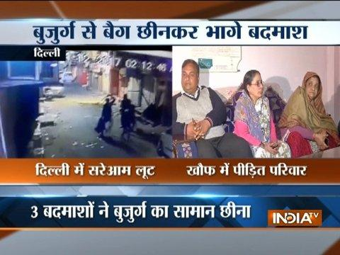 Snatchers target aged man in Delhi, incident caught on camera