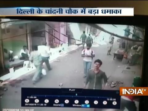 Watch: Video shows explosion in Delhi's Chandni Chowk area