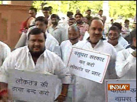 Rajasthan: Assembly adjourned after Congress protests against Ordinance