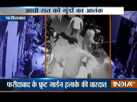 CCTV: Fearless Goons of Faridabad Vandalize Vehicles on road