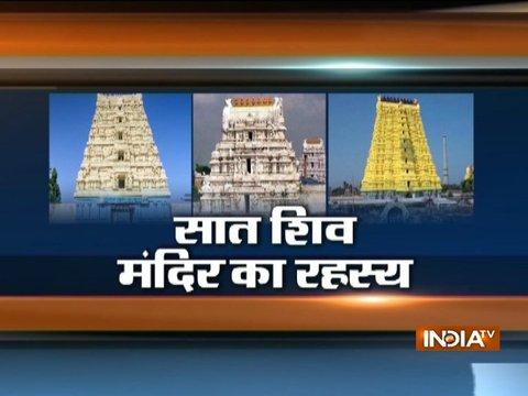 Seven famous Shiva temples which are on the same latitude from Kedarnath to Rameshwaram