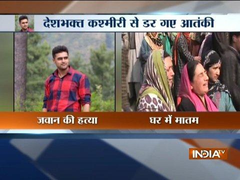 Terrorists abducted and killed a 23-year-old Territorial Army jawan in south Kashmir
