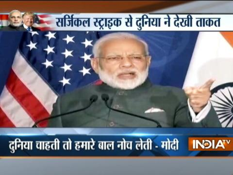 'No nation questioned India's surgical strikes', says Modi at diaspora event in US