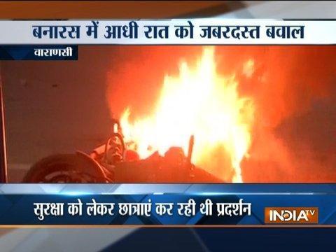 Varanasi: Police lathi-charge protesting BHU girls