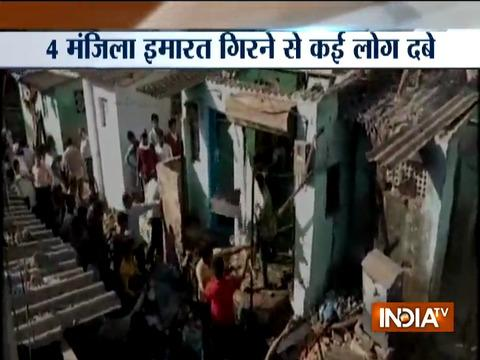 Part of 4 storey building collapses in Bhiwandi, rescue operation underway