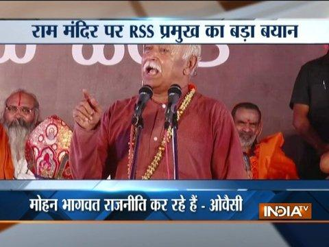 RSS chief Bhagwat says only mandir will be built at Ram janmabhoomi site in Ayodhya