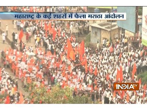 Marathas staged protest demanding reservations in Maharashtra