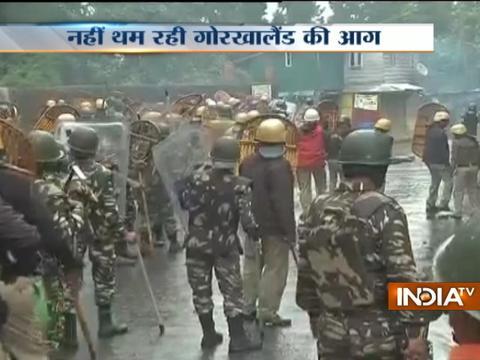 GJM's protests over 'Gorkhaland' continue, several vehicles burnt