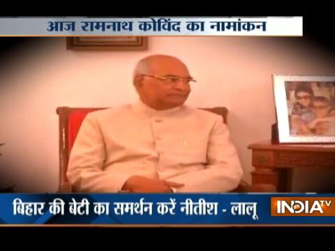 Presidential election 2017: Ram Nath Kovind to file nomination today