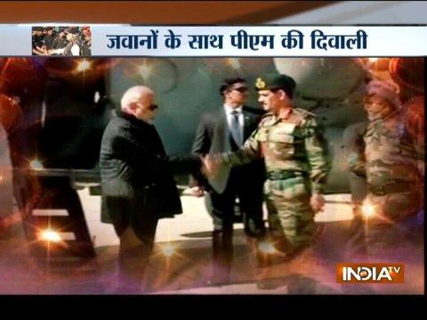 PM Narendra Modi reaches JK's Gurez sector to celebrate Diwali with jawans