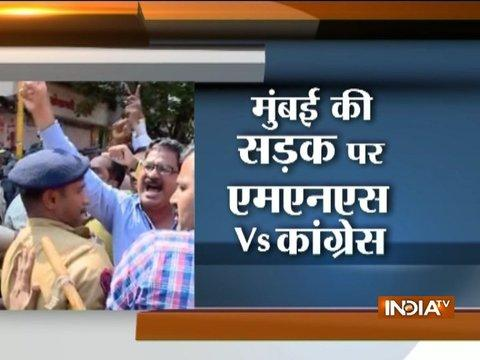 Assault Over North Indians: Congress and MNS workers scuffle in Dadar, shops closed