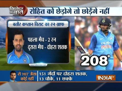 2nd ODI: India cruise past Sri Lanka with Rohit's double hundred to level series