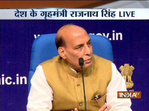 Govt has decided to start a sustained dialogue in J&K, says Rajnath Singh