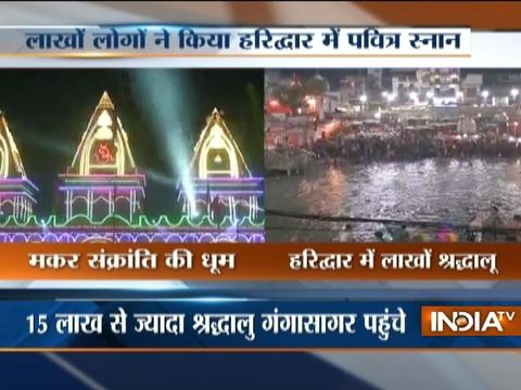 Devotees take holy dip in River Ganges on Makar Sankranti