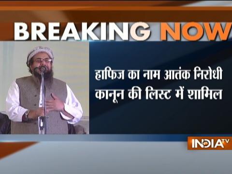 Pakistan lists JuD chief militant Hafiz Saeed under Anti-Terrorism Act