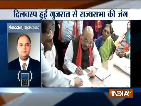 Amit Shah, Union minister Smriti Irani filed nomination for Rajya Sabha polls from Gujarat