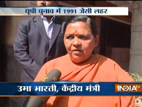 Uma Bharti backs PM Modi on 'graveyard' remark