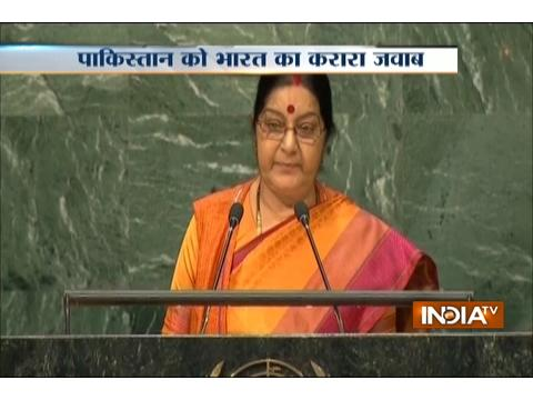 Terrorism is the biggest violation of human rights says Sushma Swaraj at 71st