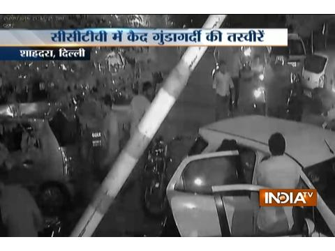 CCTV: Man is brutally beaten on the street by Several men at Shahdara road in