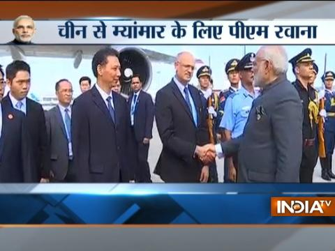 PM Modi leaves for Myanmar for first bilateral visit