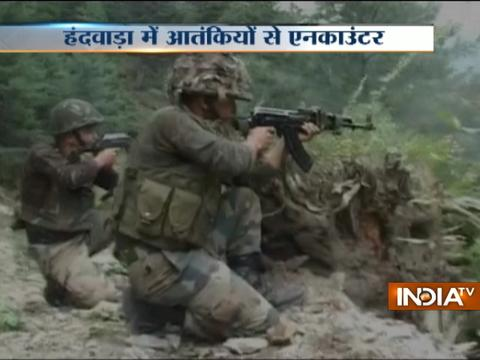 Encounter between militants and security forces in Kashmir's Handwara