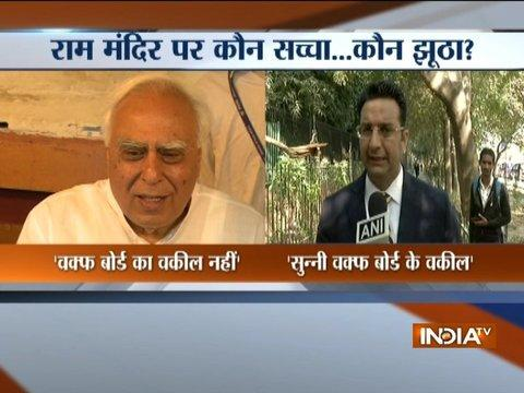 BJP leader Gaurav Bhatia says Kapil Sibal is lying, he does represents Sunni Waqf Board