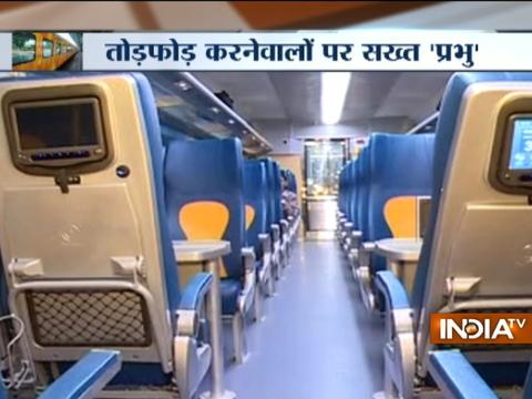 India's first semi-luxury train Tejas Express vandalised on its first jouney