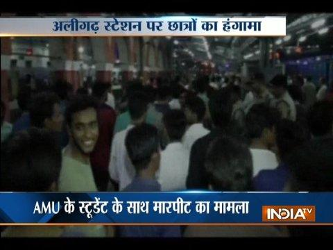 Uttar Pradesh: AMU students create ruckus at railway station