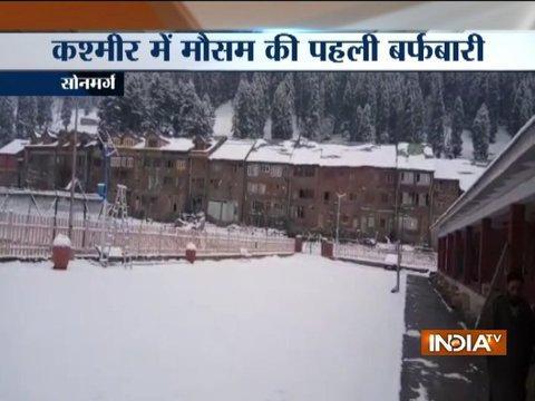 Sonamarg in Kashmir receives season's first snowfall