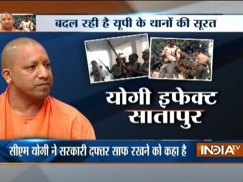 CM Yogi Effect: Police officers grabs broom to clean office and corridor