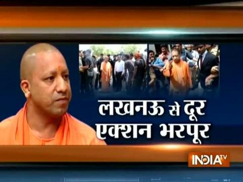 CM Adityanath makes maiden visit to Bundelkhand, visits round hospital, meets farmers