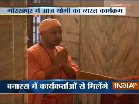 UP CM Adityanath prays at Gorakhnath Temple in Gorakhpur