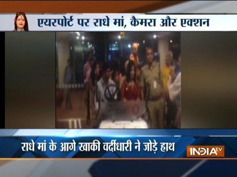 Viral: Self-styled god woman Radhe Maa gets VIP treatment at Mumbai Airport