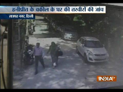 CCTV: Does Honeypreet visited lawyer Pradeep Arya's office in Delhi's Lajpat Nagar ?
