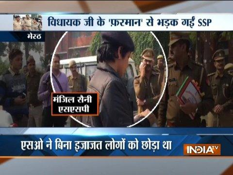 Meerut SSP expresses anger over SHO for releasing rioters without her permission