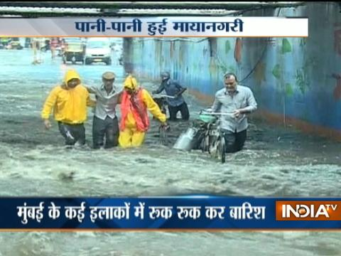 Heavy rainfall triggers water logging in parts of Mumbai