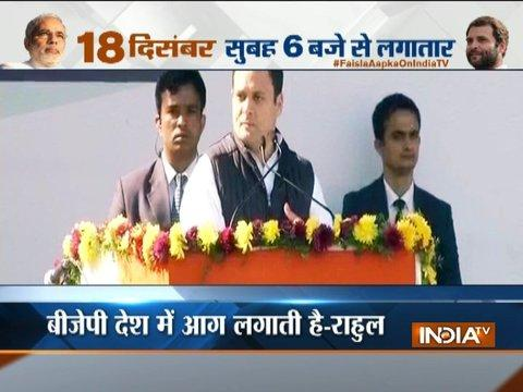Rahul Gandhi takes charge as Congress president, lashes out at BJP