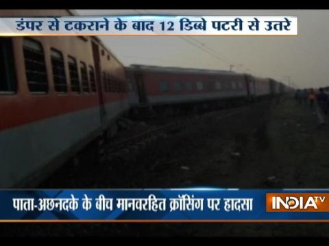 12 coaches of Kaifiyat Express derail in UP, 40 injured
