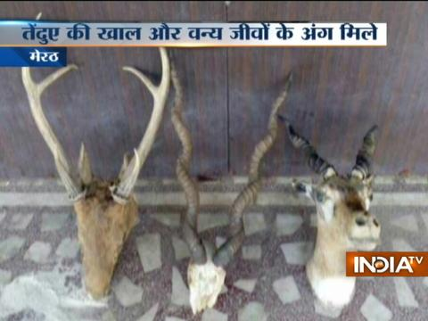 Banned wild animal body parts, 1 crore cash and arms recovered from retired Colonel's son
