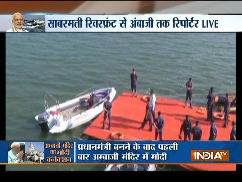 Preparations in full swing at Dharoi Dam to welcome PM Modi