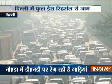 Republic Day full dress rehearsal makes Delhi traffic to crawl