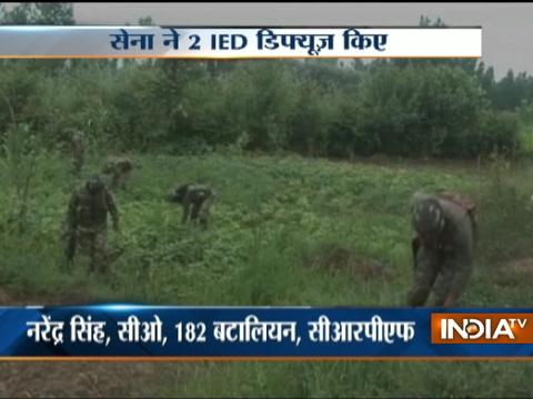 Security forces defused two IEDs planted by terrorists on Pulwama Bypass
